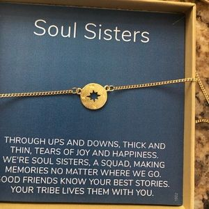 Gold Tone Soul Sisters Neclace
